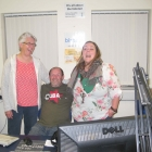 Myself and Rebekah at Bishop fm with Terry Ferdinand
